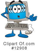 Royalty-Free (RF) computer character Clipart Illustration #12908