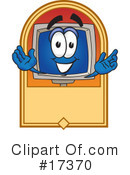 Royalty-Free (RF) computer character Clipart Illustration #17370