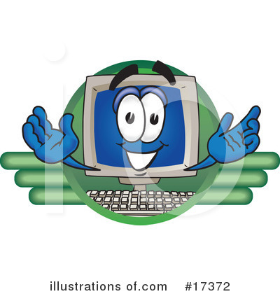 Computer Character Clipart #17372 by Toons4Biz