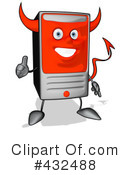 Computer Character Clipart #432488