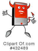 Computer Character Clipart #432489