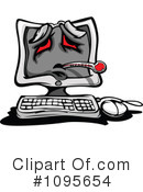 Computer Clipart #1095654 by Chromaco