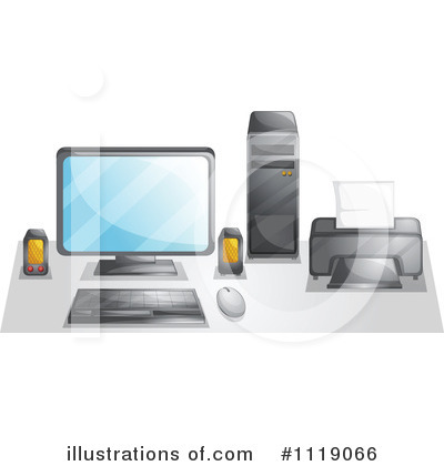 Royalty-Free (RF) Computer Clipart Illustration by Graphics RF - Stock Sample #1119066