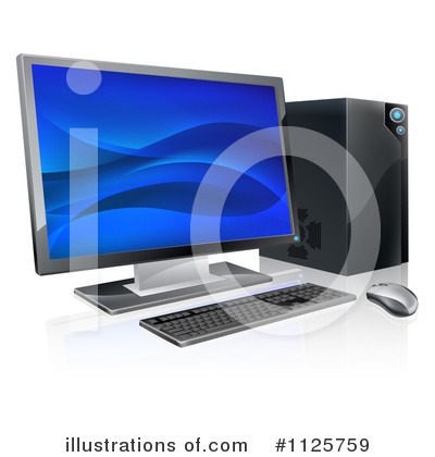 Desktop Computer Clipart #1125759 by AtStockIllustration