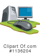 Royalty-Free (RF) Computer Clipart Illustration #1136204