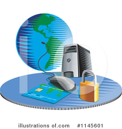 Royalty-Free (RF) Computer Clipart Illustration by patrimonio - Stock Sample #1145601