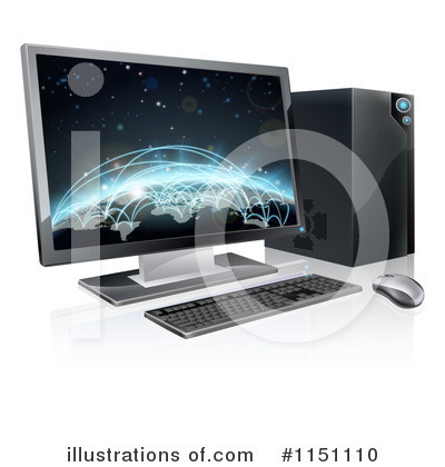 Desktop Computer Clipart #1151110 by AtStockIllustration