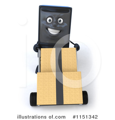 Computer Tower Character Clipart #1151342 by Julos