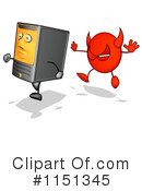 Royalty-Free (RF) Computer Clipart Illustration #1151345
