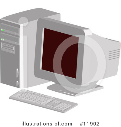 Desktop Computer Clipart #11902 by AtStockIllustration