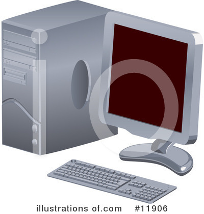 Royalty-Free (RF) Computer Clipart Illustration by AtStockIllustration - Stock Sample #11906