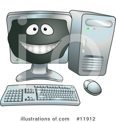 Desktop Computer Clipart #11912 by AtStockIllustration