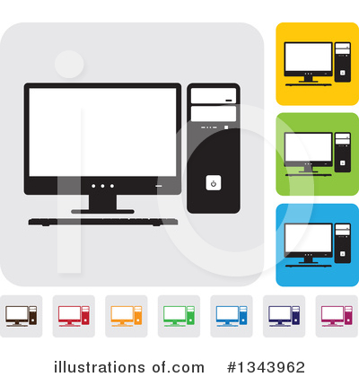 Computers Clipart #1343962 by ColorMagic