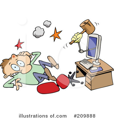 Computer Virus Clipart #209888 by gnurf