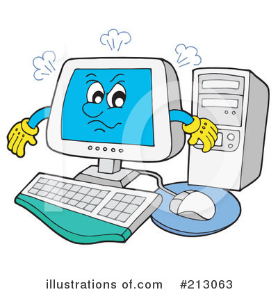 Computer Clipart #213063 by visekart