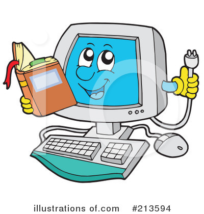 Computer Clipart #213594 by visekart
