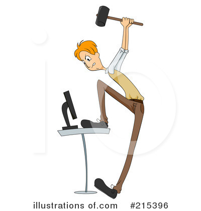 Royalty-Free (RF) Computer Clipart Illustration by BNP Design Studio - Stock Sample #215396