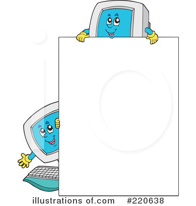 Computer Clipart #220638 by visekart