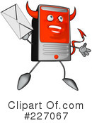 Royalty-Free (RF) Computer Clipart Illustration #227067