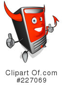 Royalty-Free (RF) Computer Clipart Illustration #227069