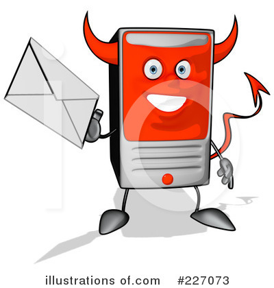 Computer Tower Character Clipart #227073 by Julos