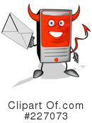 Royalty-Free (RF) Computer Clipart Illustration #227073