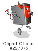 Royalty-Free (RF) Computer Clipart Illustration #227075