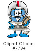 Royalty-Free (RF) computer Clipart Illustration #7794