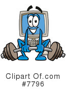 Royalty-Free (RF) computer Clipart Illustration #7796