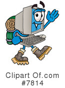 Royalty-Free (RF) computer Clipart Illustration #7814