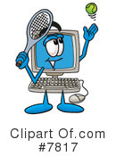 Royalty-Free (RF) computer Clipart Illustration #7817