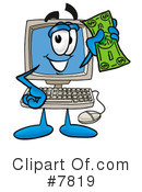 Royalty-Free (RF) computer Clipart Illustration #7819