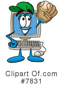 Royalty-Free (RF) computer Clipart Illustration #7831