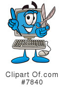 Royalty-Free (RF) computer Clipart Illustration #7840