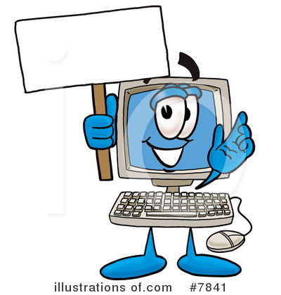 Computer Clipart #7841 - Illustration by Toons4Biz