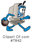 Royalty-Free (RF) computer Clipart Illustration #7842