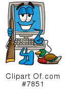 Royalty-Free (RF) computer Clipart Illustration #7851