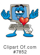 Royalty-Free (RF) computer Clipart Illustration #7852