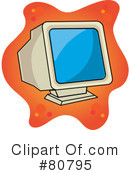 Royalty-Free (RF) Computer Clipart Illustration #80795