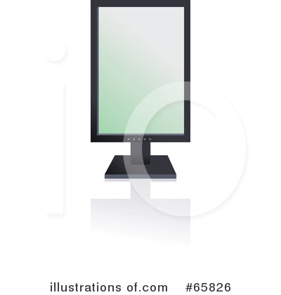 Royalty-Free (RF) Computer Monitor Clipart Illustration by Prawny - Stock Sample #65826