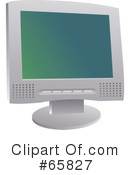 Royalty-Free (RF) Computer Monitor Clipart Illustration #65827