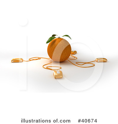 Oranges Clipart #40674 by Frank Boston