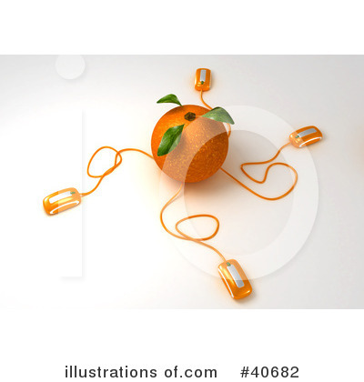 Oranges Clipart #40682 by Frank Boston