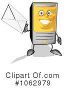Royalty-Free (RF) Computer Tower Character Clipart Illustration #1062979