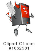 Royalty-Free (RF) Computer Tower Character Clipart Illustration #1062981