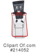 Royalty-Free (RF) Computer Tower Character Clipart Illustration #214052