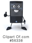 Royalty-Free (RF) Computer Tower Character Clipart Illustration #56338