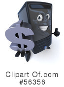 Royalty-Free (RF) Computer Tower Character Clipart Illustration #56356