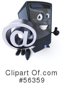 Royalty-Free (RF) Computer Tower Character Clipart Illustration #56359