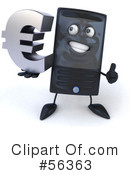 Royalty-Free (RF) Computer Tower Character Clipart Illustration #56363